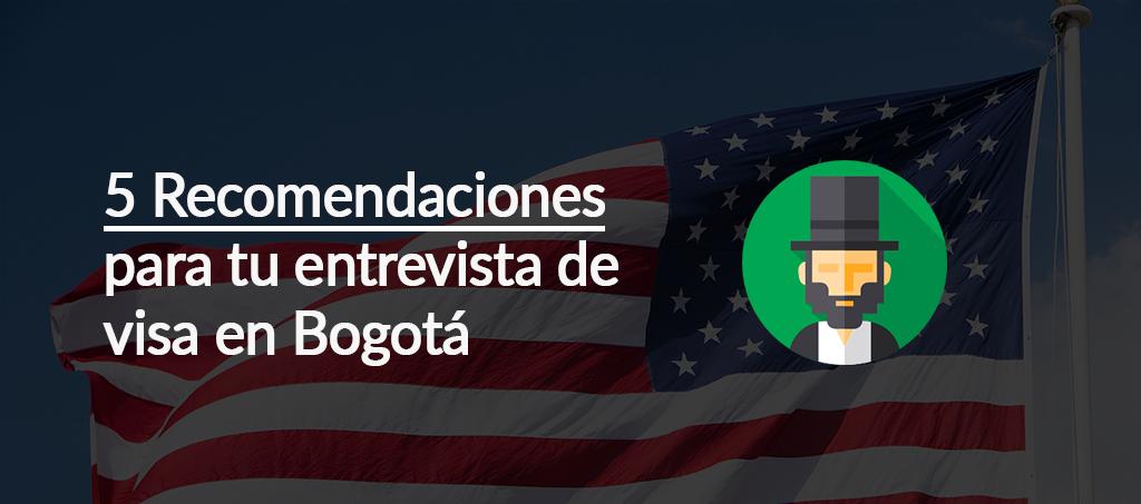 entrevista en la embajada americana debogotá