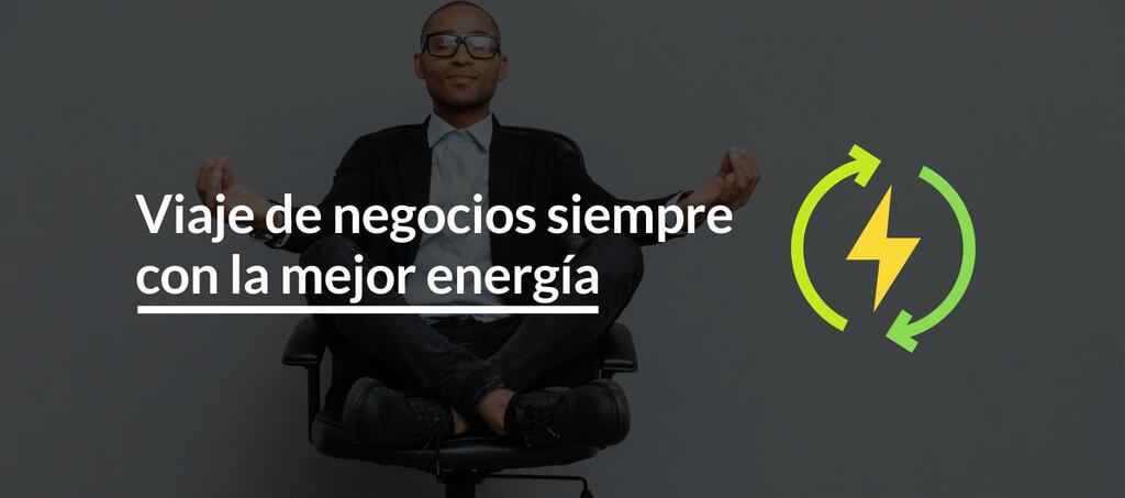 Viaje de negocios con la mejor energía