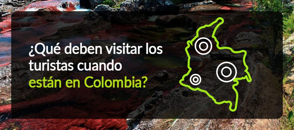 Turistas cuando están en Colombia